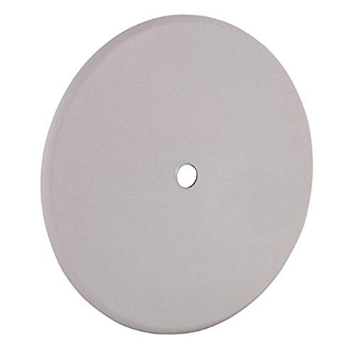 5 in. Round Closure Plate, Blank, Fixture Stud and Universal Mount Strap, Off-White