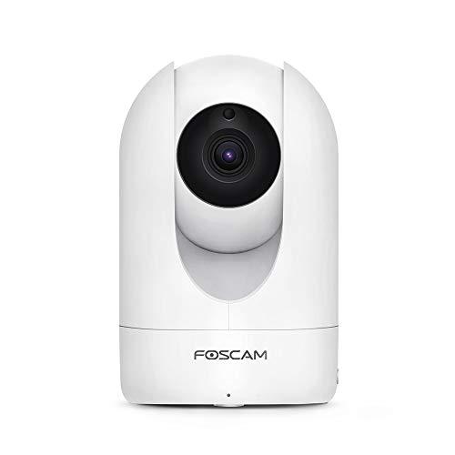 FOSCAM R4M Telecamera IP da Interni motorizzata 4 MP, Wi-Fi con consultazione e pilotaggio a Distanza 24H/24 e 7J/7, rilevamento di Movimento e Allarme Push, Bianco