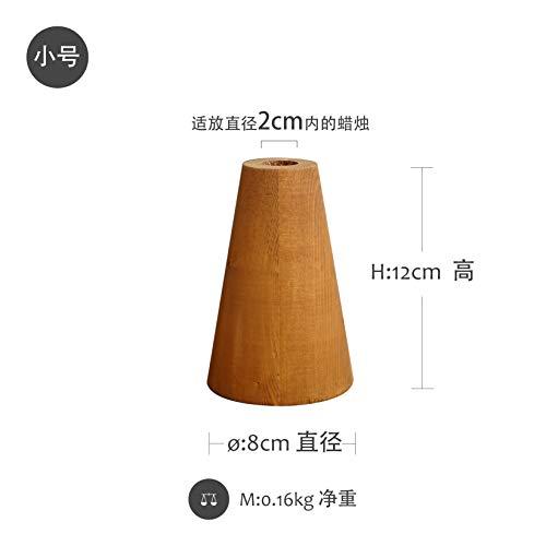 CFLFDC Kandelaar van hout, vintage, kandelaar van hout, tafeldecoratie, tafeldecoratie, voor oude kandelaar, 2 stuks (roodbruin), klein