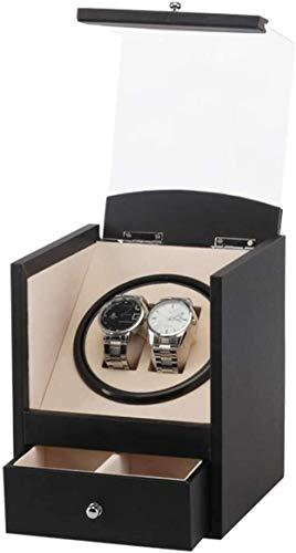 YUYANDE COLECTOR DE RADIVER DE Reloj AUTOMÁTICO con 2 Reloj DE Reloj DE Reloj, con Caja DE RELAJE DE Almacenamiento DE BUDLE DE CAJAJE (Color : Black)