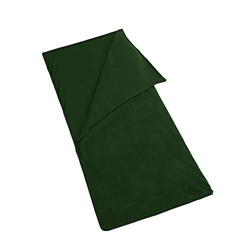 DENG XIA Outdoor Outings Explosion - Sacco a pelo in pile da campeggio all'aperto in pile sacco a pelo da viaggio per picnic, Verde militare