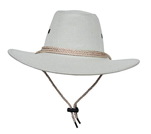 Mützen Hut Umfang:58 Breite 60Cm Mädchen Krempe Damen Jazz Hut Cowboy Westernhut Ranger Hut Buschhut Pork Tarnung Caps (Color : Weiß, Size : 58-60cm)