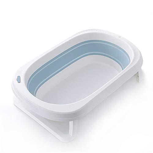 LHY BATHLEADER Baby Badewanne Faltbar, Baby Badewanne Temperaturempfindlicher Wasserstopper, Reisebadewanne, Unterstützung 0-5 Jahre Alt,Blau