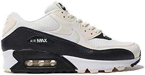 Nike Damen Air Max 90 Turnschuhe, pÃle Ivory Summit Weiß schwarz Oil grau