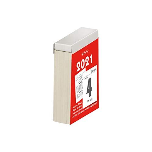 herlitz 50030095 Abreißkalender 2021, Größe 4 (6,5 x 10 cm), 1 Stück