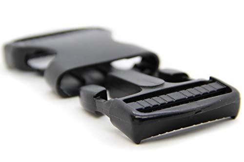 NTS Nähtechnik Steckschnallen aus Kunststoff Steckverschluss Klickverschluss Steckschließer Rucksack Hundegeschirr (1 Schnalle, 40 mm)