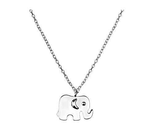 SOFIA MILANI - Damen Halskette 925 Silber - Elefant Anhänger - 50275