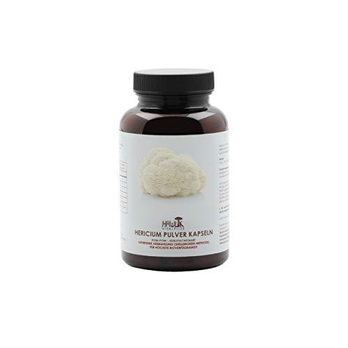 Hawlik Vitalpilze - Hericium Pulver Kapseln - 120 Kapseln - 420 mg Vitalpilz Pulver - GMP Qualität - Shelllbroken