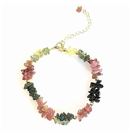 SeniorMar-UK Bracelet de Perles d'eau Douce Naturelles Pierres colorées Cadeaux Femmes Bijoux Vintage Bracelet de Perles colorées 2