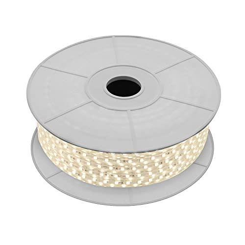 LEDKIA LIGHTING Bobina de Tira LED Regulable 220V AC 60 LED/m 50m Blanco Cálido IP65 Corte cada 100cm