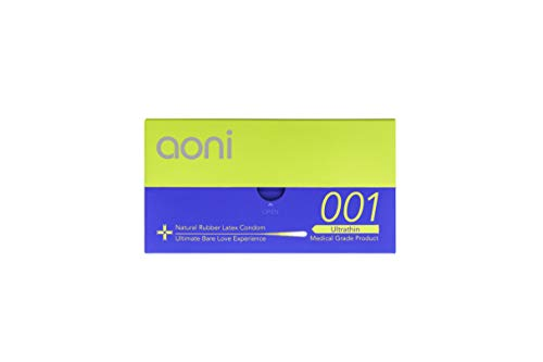 Aoni Condoms - Ultrathin 001 12 PCS - Achieved World's Thinnest* Latex Condom - Premium 001 Series - Water Based Lubricant