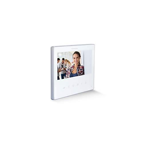 Chacon 34873/34874 Videoporteros : Extra pantalla para videoportero de 2 hilos - blanco o negra (blanco)