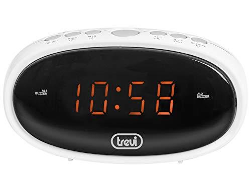 Trevi EC 880 digitale klok met wekker, wit, 13,5 x 6,5 x 5 cm