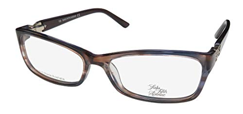 Saks Fifth Avenue Saks Fifth Avenue 271 0EN4 Blue Blush Eyeglasses