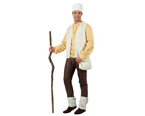 Atosa-32152 Atosa-32152-Disfraz Pastor Hombre Adulto-Talla Navidad, Color Blanco, M-L (32152)