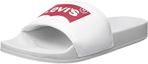 Levi's June Batwing S, Sandali Donna, Regular White, 38 EU