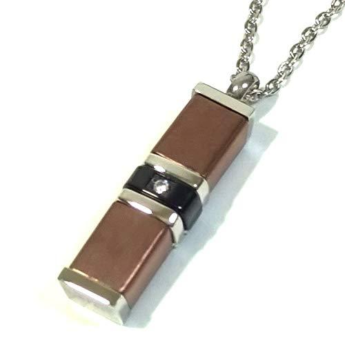 Doma – Gargantilla de acero con colgante en forma de cilindro con circonita – Medida 50 cm cód. 35953