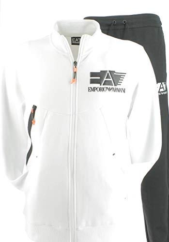 Emporio Armani Kompletter Anzug für Mann EA7 aus schwarz-weißem Stoff 3HPV76PJJ5Z-22BA