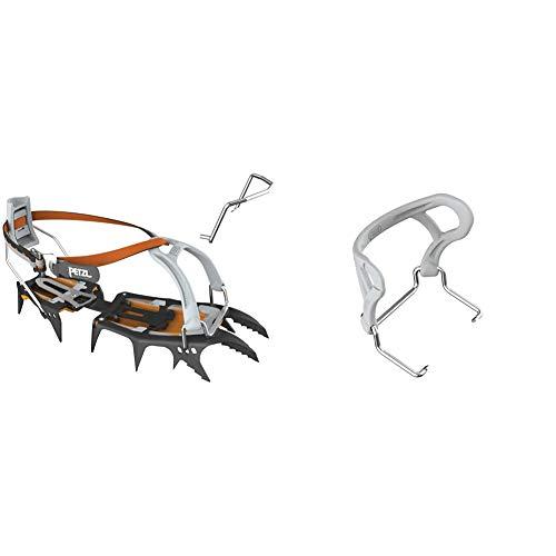 PETZL Erwachsene Verticality Steigeisen, orange/Schwarz, 36-50 & Steigeisen Zubehör Back Flex hintere Verbindungsstück Steigeisen
