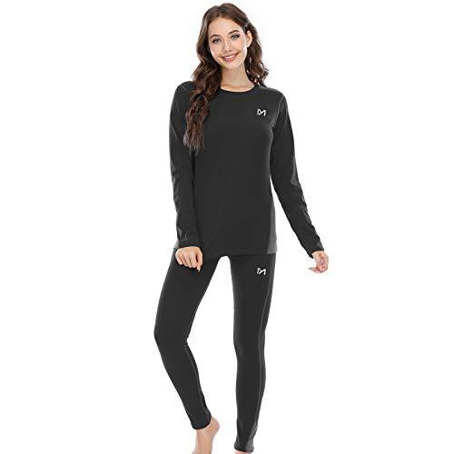 MEETYOO Conjuntos térmicos Mujer, Ropa Interior termica Invierno Base Layer Thermo Pantalones para...