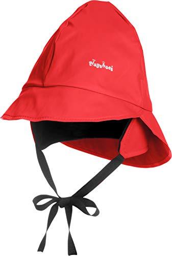 Playshoes Baby Regen-Mütze, wind- und wasserdichte Unisex-Mütze für Jungen und Mädchen mit Fleecefutter, mit Playshoes-Motiv, Rot (8 rot ), 51 cm
