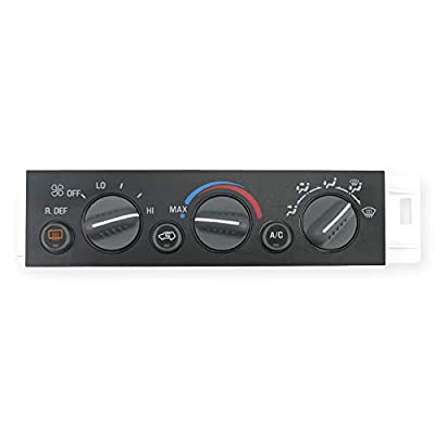 AC Heater Climate Control Panel,Fit for Chevy Suburban Tahoe GMC Yukon 1996-2000 C1500 C2500 C3500 K1500 K2500 K3500- with Rear Window Defogger Switch,Replace 16231165, 16238885, 16240105, 9378805