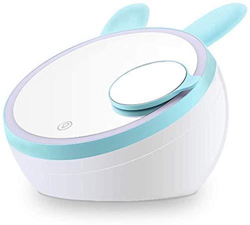 BRFDC Espejos para Maquillarse Espejo de Maquillaje USB Recargable Espejo de baño con 1X / 3XMagnification, la luz de la Pantalla táctil Regulable LED for el Maquillaje cosmético encimera