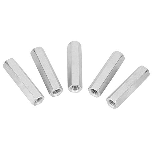 Long Rod Nut, Durable Carbon Steel Nut Wear-Resistant Strength Stable for Home for Office for Communication Equipment for Ship Assembly