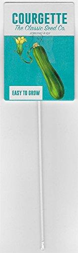 The Original Metal Sign Conpany Courgette en métal pour Plante étiquette, Classic Seed Company Paquet de semences