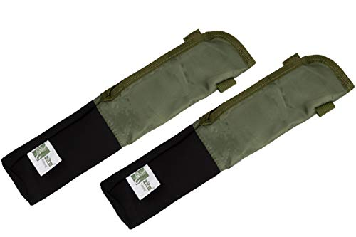 Zite Fishing Rutenschoner-Hüllen Set - 2 STK Schutztaschen mit Ruten-Band für Angel-Ruten – Ruten-Schutz-Hüllen 37cm