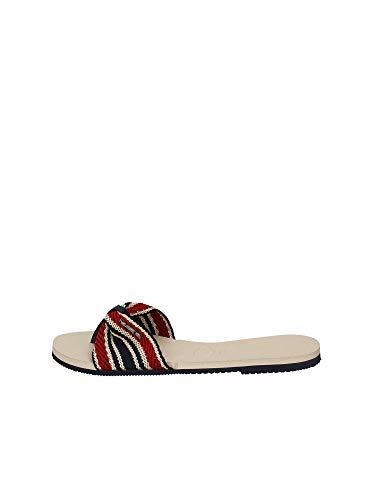 Havaianas You Saint Tropez Fita Flip Flops Women Beige/Marine/Red - 9/9.5 - Flip Flops Shoes