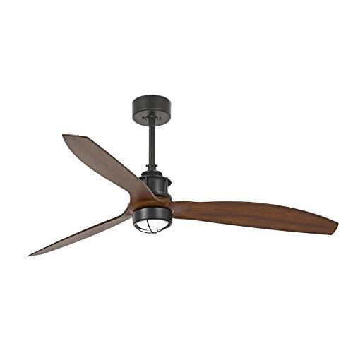 Faro Barcelona 33395-10- JUST FAN LED Ventilador de techo negro/madera con motor DC
