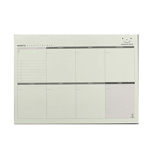 Notitieboekje Student Stationery Office benodigdheden Scheepbaar Papier Plan Notebooks to-Do Note Memo Maandelijks Plan Kladblok B-large