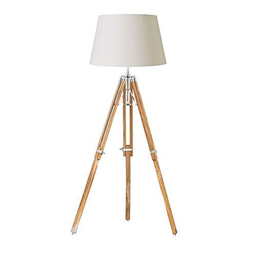 Base de lámpara de pie de trípode de luz acabado: natural