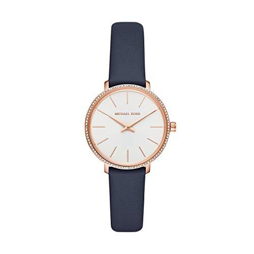 Michael Kors Damen Analog Quarz Uhr mit Leder Armband MK2804