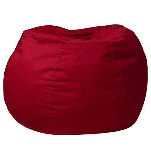 Flash Furniture Small Solid Red Bean Bag Chair for Kids and Teens