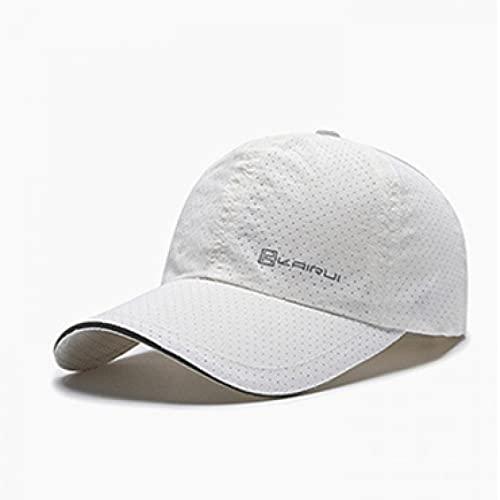 FXSYL Gorra de béisbol de Verano Transpirable para Hombres Sombreros Snapback para Mujeres Agujeros de ventilación de Golf de Secado rápido Viseras para el Sol Casquette de Hueso E