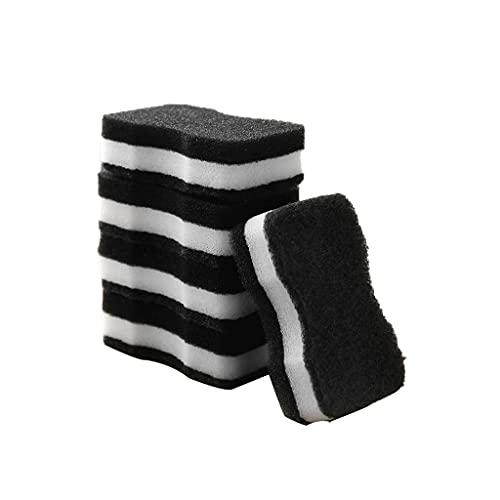 KDDM Paño De Cocina Bloque Esponja Imitación Loofah Esponja Limpieza de tazón Espesamiento Cepillo Pote Scouring Pad Cocina Cocina Limpieza Paño Paño Plato Paño De Limpieza (Color : A, Quantity : 10)