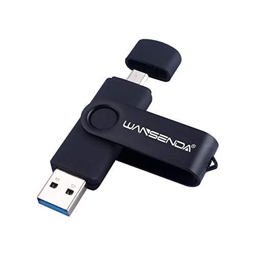 New Usb 3.0 Wansenda OTG USB flash drive for SmartPhone/Tablet/PC 8GB 16GB 32GB 64GB 128GB 256GB Pendrive High speed pen drive-black_16 GB