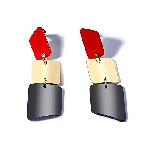 Mode Lippenstift Design lange Ohrringe für Frauen Party Schmuck Edelstahl Baumbaum Ohrringe weibliche Lady Geschenke