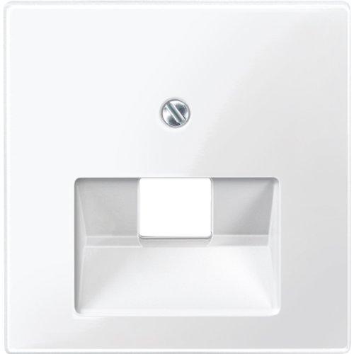 Merten 296219 Zentralplatte für UAE-Einsatz, 1fach, polarweiß glänzend, System M