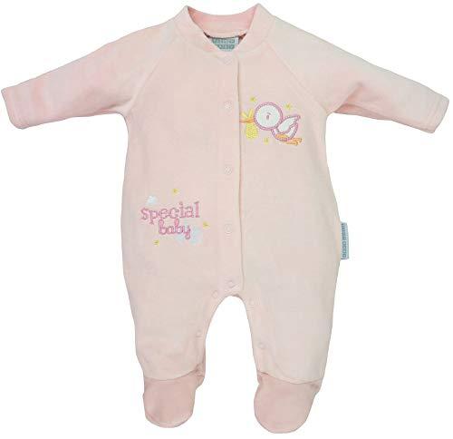 Tiny Baby - Baby Mädchen Frühchen Frühgeborene Schlafstrampler Schlafanzug aus Nicki Gr. 50/56 (Newborn)