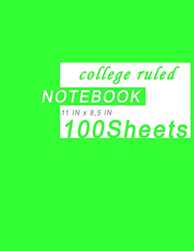 ayoben Notebook,College ruled notebook,100 Sheets, 8,5 x 11 Inches