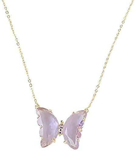 NC198 Collar Collar Mariposa Tricolor Mujer