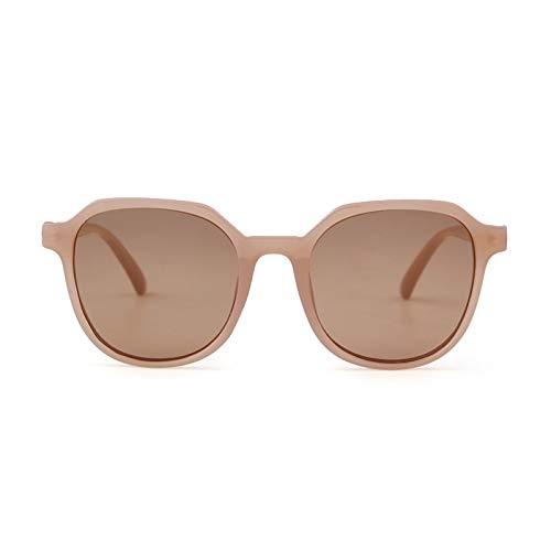 BKALFLWA Gafas de Sol para Mujer Gafas De Sol Mujer Vino Tinto Marco Transparente Mujer Ronda Tinte Cuadrado Gafas De Sol polarizadas para Gafas de Sol