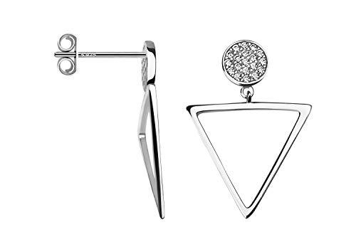 SOFIA MILANI - Damen Ohrringe 925 Silber - Ohrstecker als Dreieck - 20498