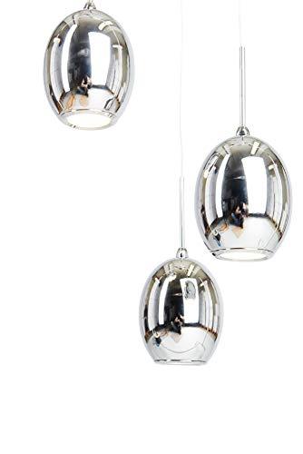 anTes interieur Höhenverstellbare LED Hängeleuchte Pallea chrom mehrflammig (Pendelleuchte Hängelampe Deckenlampe Pendellampe Deckenleuchte)