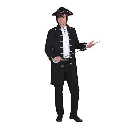 Orlob NEU Herren-Jacke Pirat de Luxe, schwarz Gr. 54-56