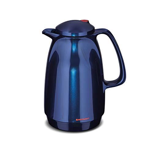ROTPUNKT Isolierkanne 220 BELLA, 1,0 liter, midnight blue, Glaseinsatz, BPA-frei