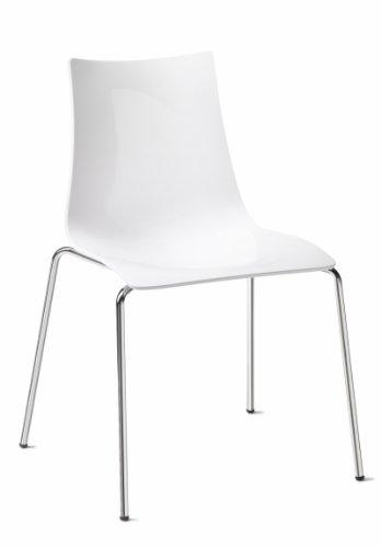 Scab Design Zebra Antishock Stuhl 4 Beine Transparentes Rauchglas
